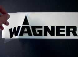 Samolepka Wagner průhledná