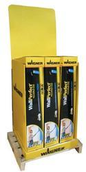 Prezentační regál - HandiRoller 9-12ks - zadní plocha žlutá